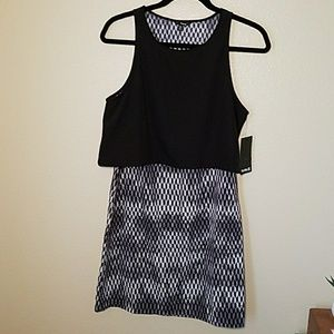 Hurley black and white dress small