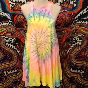 UNIF Haighter Tie Dye Tank Dress Sz. S