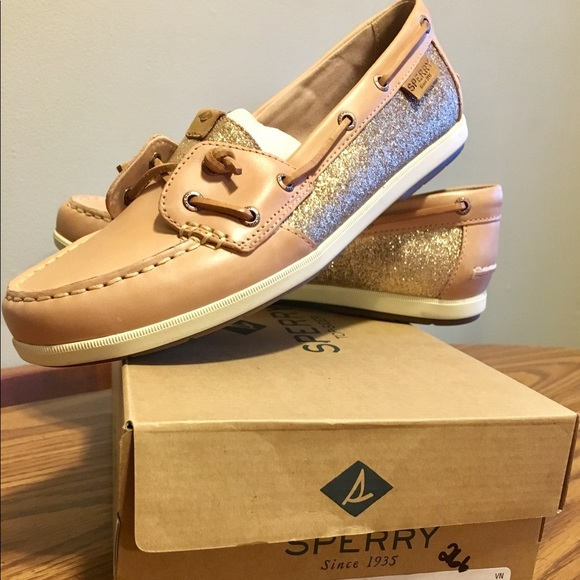 2ab230745423 Sperry Shoes | Top Sider Coil Ivy Sparkle Boat Rose | Poshmark