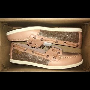28b388d97577 Sperry Shoes - Sperry Top Sider Coil Ivy Sparkle Boat Shoes- Rose