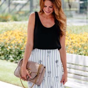 Club Monaco Skirts - Club Monaco 'Kenyatta' floral stripe skirt