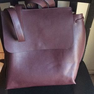 Sole Society Selena backpack Bordeaux faux leather