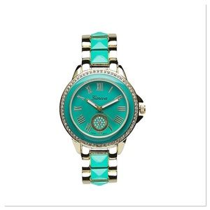 Beautiful Gold & Teal Bracelet Watch