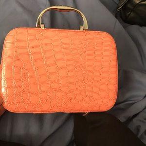 Small crocodile embossed make up bag