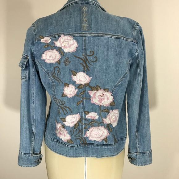 424f5c3b6e Chico s Jackets   Blazers - ❤ Chico s denim jacket w  embroidered flowers