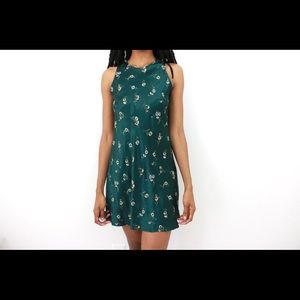 Green Envy Vintage Floral Dress