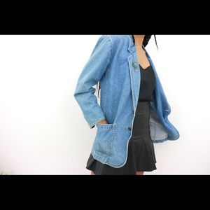 The Flyest-Extended Vintage Denim Blazer