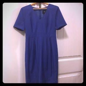 JCrew Suiting Blue Dress