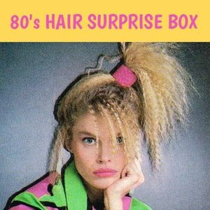 80's hair accessories MYSTERY BOX