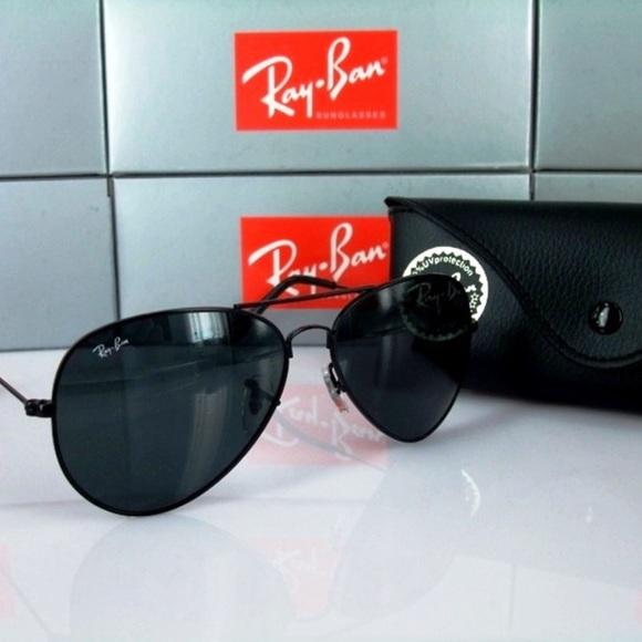 8195549008 ray ban aviators-black frame and black lens. M 5a1f3ade41b4e0c7e617c9fd