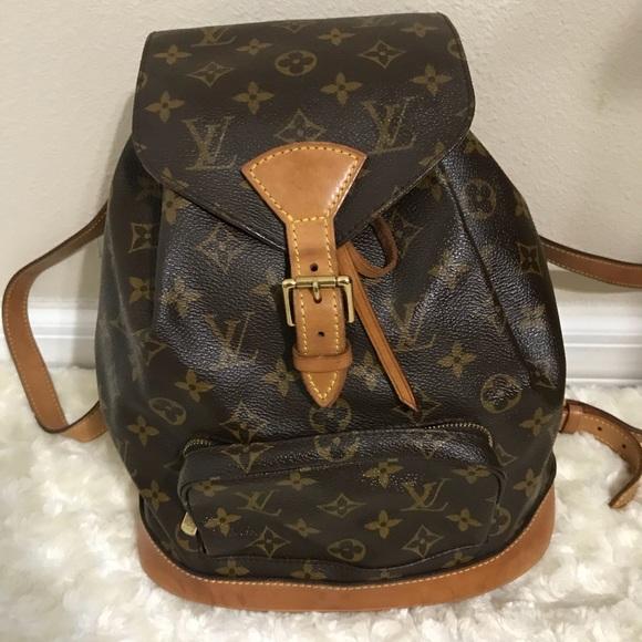 7c953131d923 Louis Vuitton Handbags - Louis vuitton backpack montsouris mm size