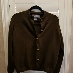 Chocolate brown 100 percent cashmere sweater