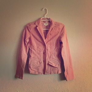 American Eagle Rose Pink Corduroy Stretch Blazer