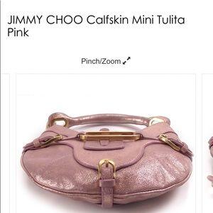 JIMMY CHOO Calfskin Mini Tulita Pink