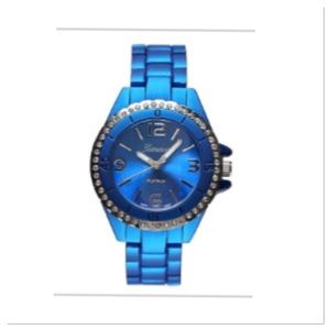 Blue with Crystal Bezel Watch