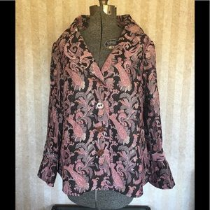Plus size Avenue tapestry patterned jacket.