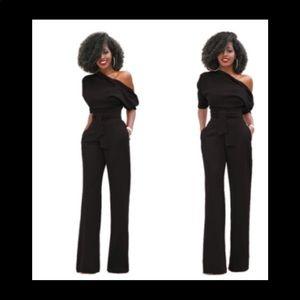 "Pants - ""Kandy"" Belted Black Jumpsuit"
