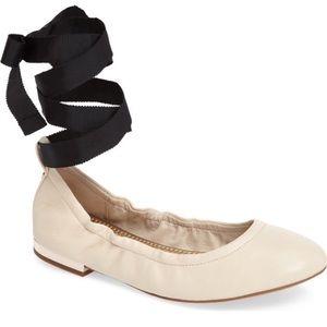 SAM EDELMAN Fallon Wraparound Ballet Flats Sz 10