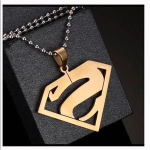 Other - 30 inch Stainless Superman Letter S Men Jewelry