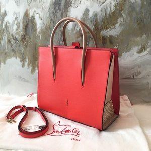 Christian Louboutin Large Orange & Red Paloma Bag