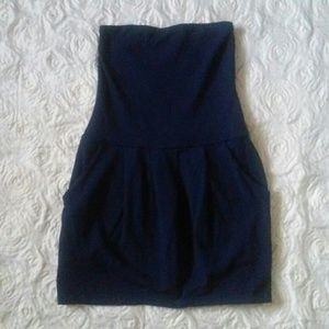 SUSANA MONACO Blue Stretch Tube Mini Dress Sz. XS
