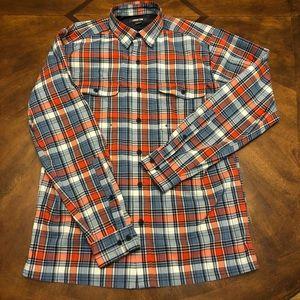 Lands End Men's Plaid Shirt - Small