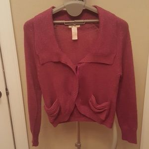 Tulle sweater with pockets, sz lg