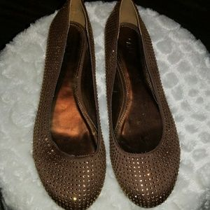 Nwt womens size 11 sparkly brown and copper flats