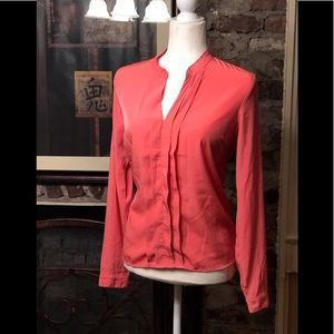 NWOT One Clothing Coral Ruffle Top