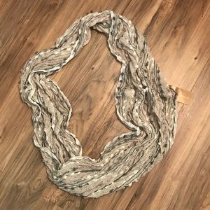 NEW multi colored pom prom infinity scarf