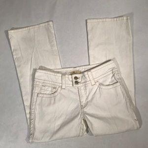 Cabi Size 6 White Boot Cut Denim Jeans