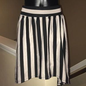 Striped Forever 21 High Low Skirt