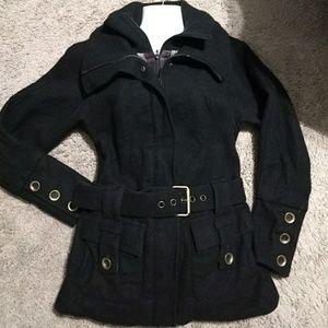 Free People Black Coat