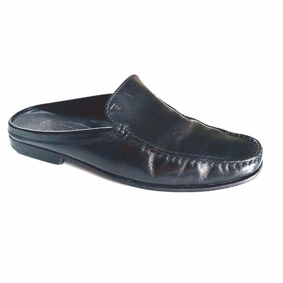 367893e7fd10 TOD S Slip On Mules Loafer Pump Shoe Black Leather.  M 5a1f4f72c6c79533da005337