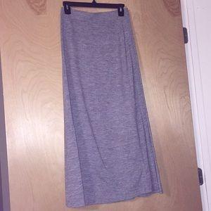 Gray cotton maxi skirt!