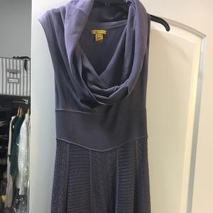 Catherine Malandrino sleevelee, cowlneck dress