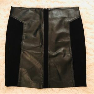 Faux Leather & Fabric Skirt !