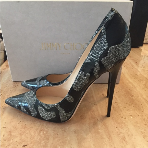a4ade1c20a7 Jimmy Choo leather and glitter pumps