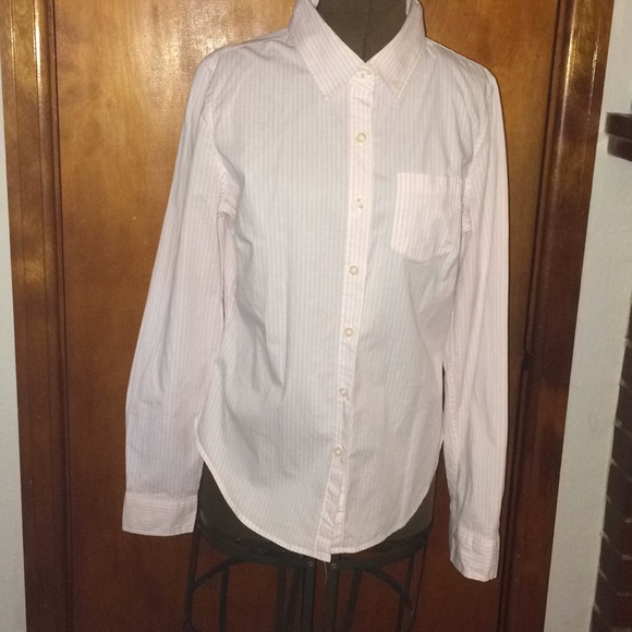 Dear By Amanda Bynes Tops Make An Offer Womens Light Pink Striped