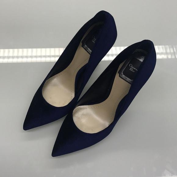 cd86f90b0a Dior Shoes | Navy Velvet Pumps Size 365 | Poshmark