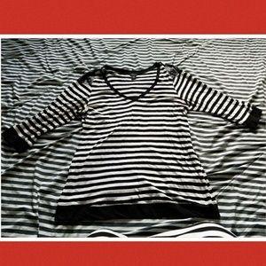 Torrid black and white striped shirt