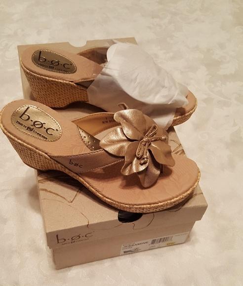 e89261da3c5 B.O.C. Champagne colored wedge thong sandals. NWT. b.o.c..  M 5a1f62049c6fcf827b00ccdc. M 5a1f62156d64bceea600c2c9.  M 5a1f626a4e8d17ee9e00c235