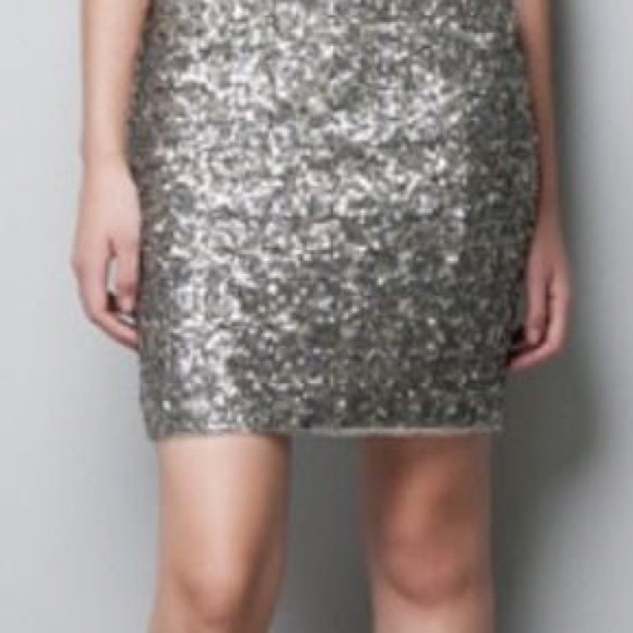 69bd91cd66 Cotton On Skirts | Matte Silver Sequin Mini Skirt | Poshmark