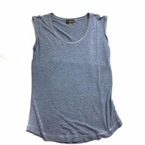 Crosby Blue-Grey T-Shirt Size Medium Cap Sleeves