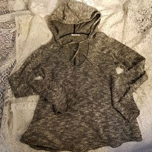 FREE WITH PURCHASE - V-neck hooded sweater