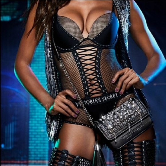d784f3cdff Victoria s Secret Balmain fishnet bodysuit teddy