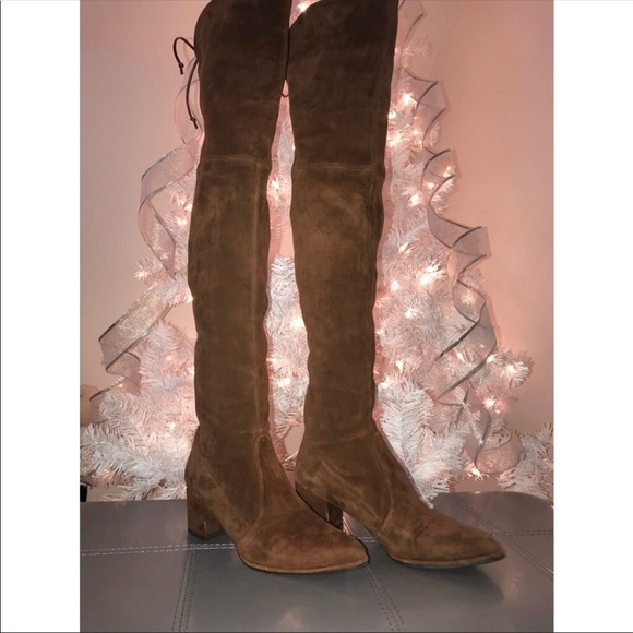 a5fb37f5509 Stuart weitzman thighland in walnut. M 5a1f649b56b2d62af300c975. Other Shoes  ...
