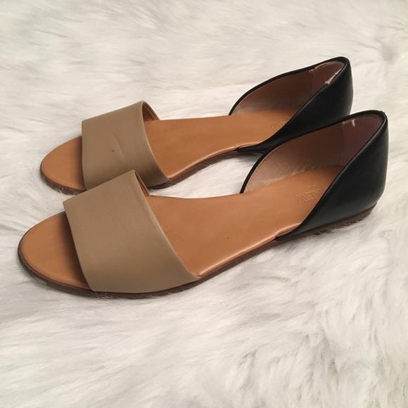 a146f05f21c J. Crew Shoes - J Crew Colorblock D Orsay Peep Toe Flats EUC
