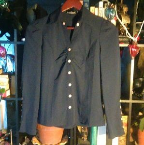 Navy blue military style top