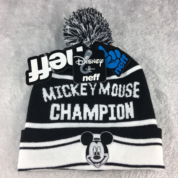 NEW NEFF Disney Beanie Hat Mickey Mouse Champion ab6103bd7ac